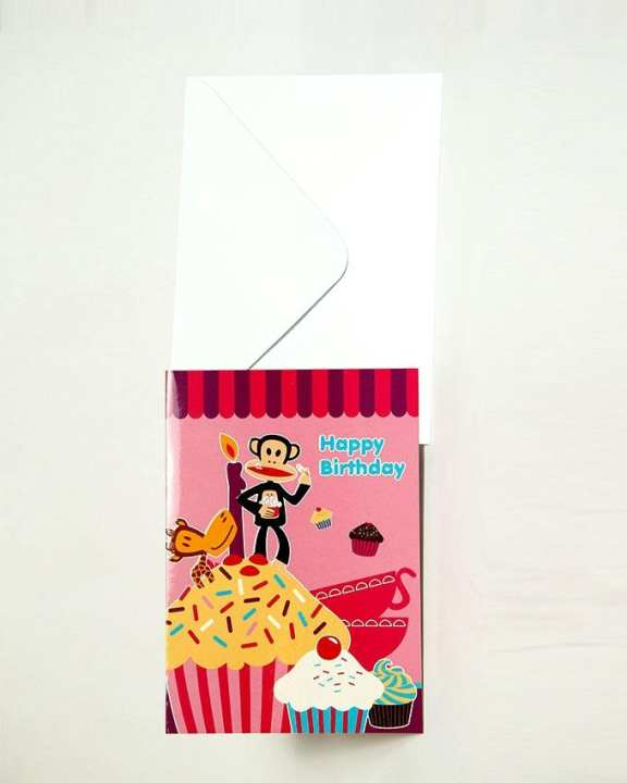PAUL FRANK Occasion Card - Pink