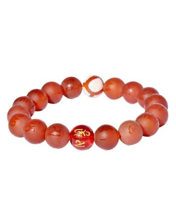 Infinity Tiger's Eye Bracelet – Red