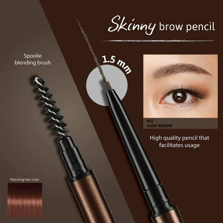 Cathy Doll Skinny Brow Pencil#02DarkBrown