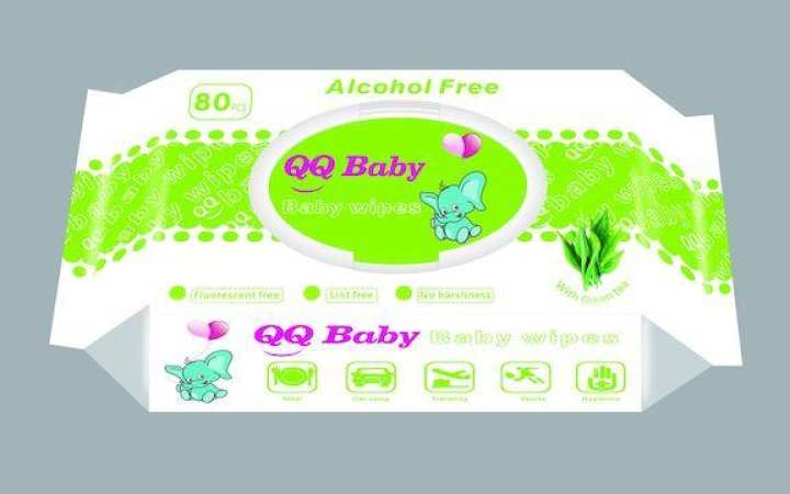 QQ Baby baby wipes 80's green tea