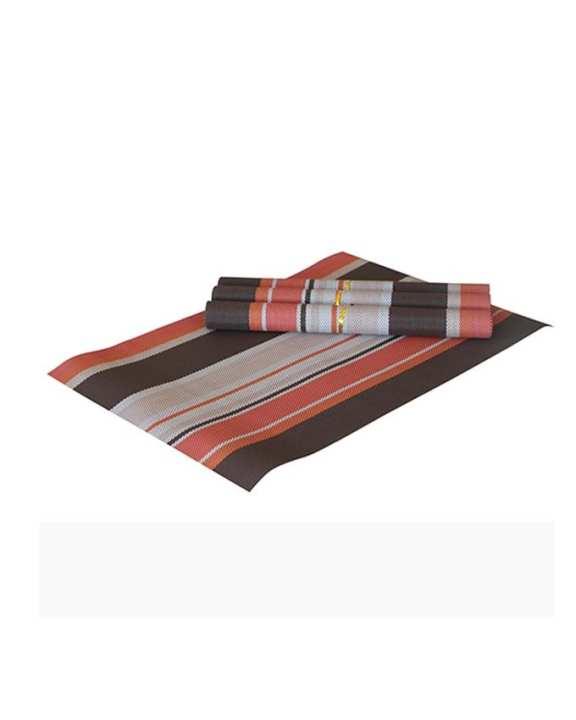 "The Cushion Factory Plastic mats- Choco Brown (Set of 4) - 18""x20"""