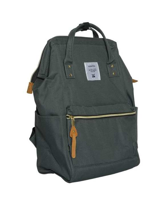 ANELLO Mouthpiece Polyester Canvas Backpack – Charcoal Grey