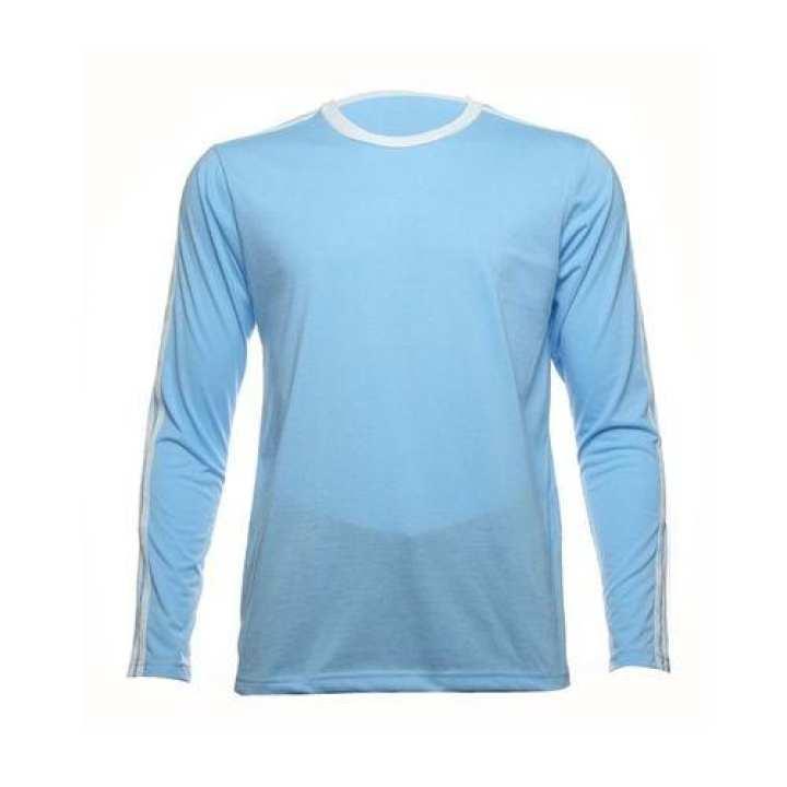 Men's Plain Long Sleeve Shirt - Sky Blue