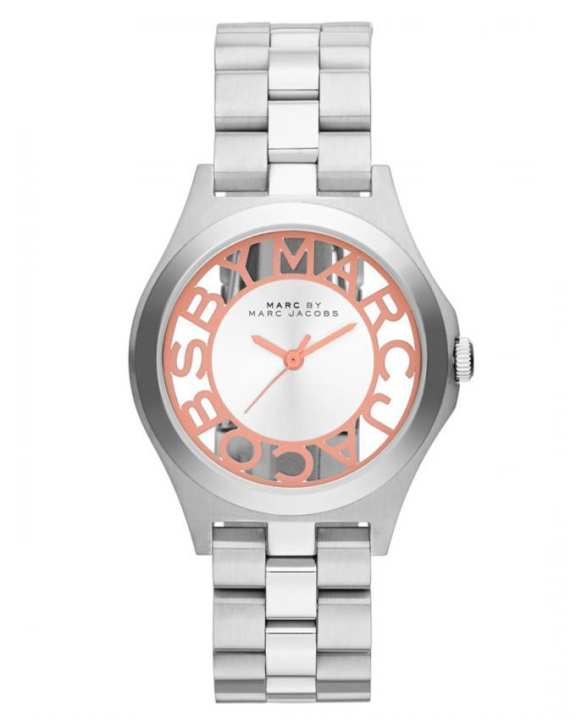Marc by Marc MBM3294 Henry Skeleton Watch - Silver & Rose Gold
