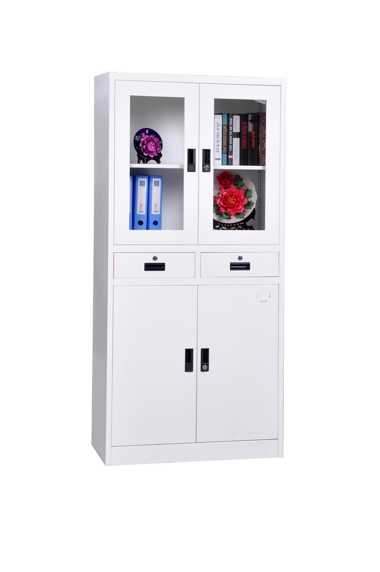 New World Upper Glass Cabinet with Drawer