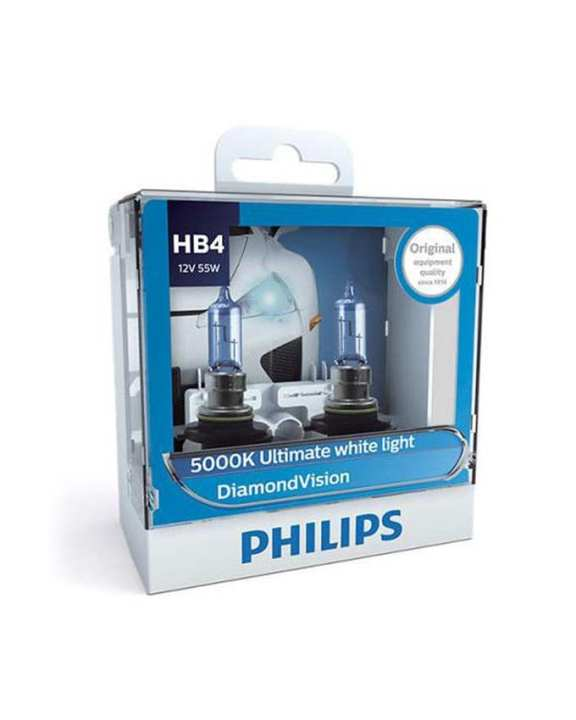 Philips HB4-9006DV Diamond Vision Automotive Bulb - White & Blue