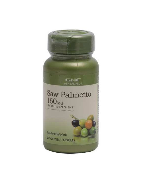 GNC Saw Palmetto Herbal Supplement 160mg - 60 Softgel Capsules