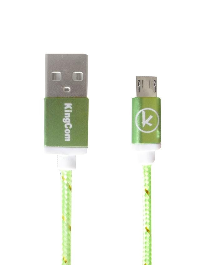 KingCom Cable for Micro USB Kable T1_Green