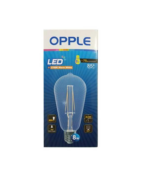 Opple OPPLE LED Filament Bulb E-ST64-E27-8W-FILA-2700K-CT-TR