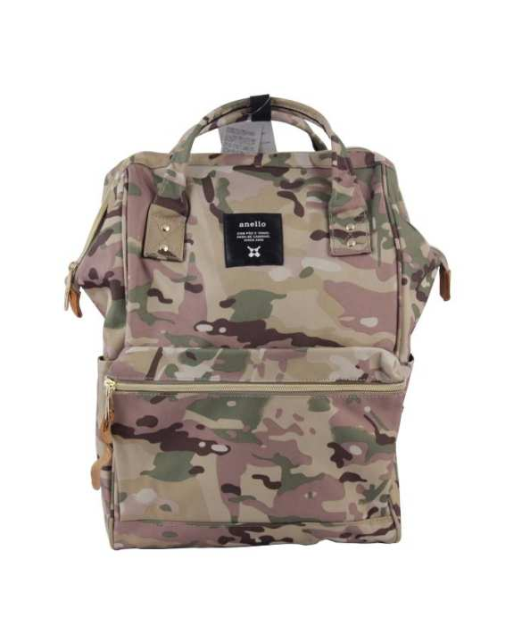 Mouthpiece Polyester Canvas Backpack – Camouflage Khaki