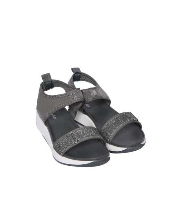 Women's Strap Wedge Sandals - Grey
