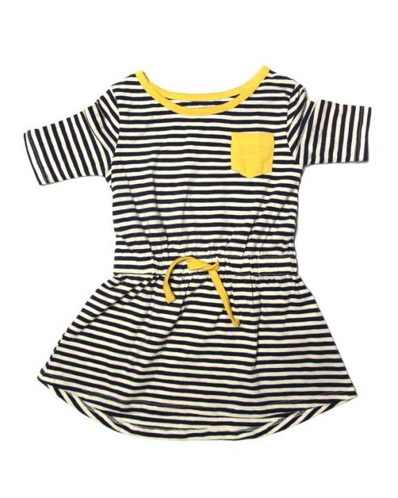 Line Leader Baby Dress - Yellow