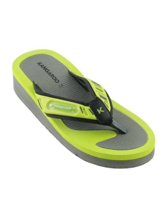 Kangaroo Women's Platform Wedge Thong Flip Flops - Lemon