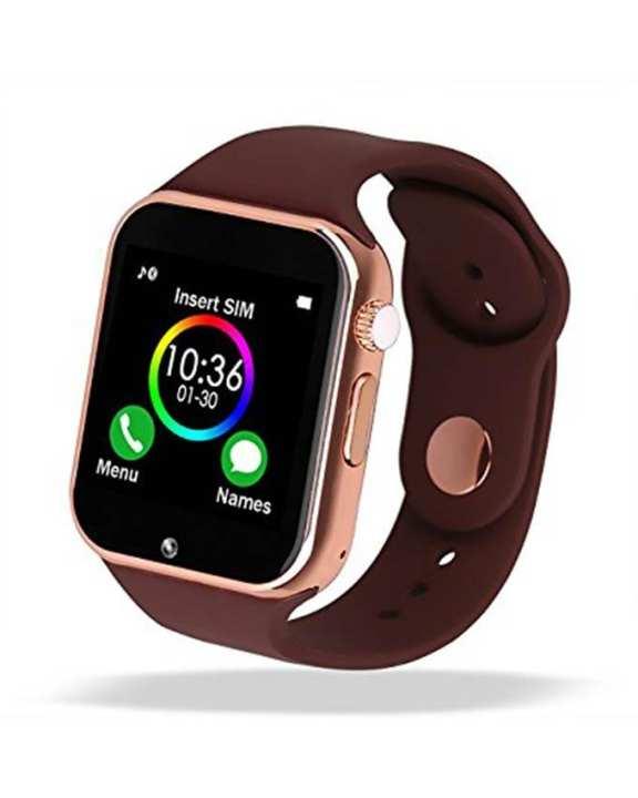 Myanmar Digital World A02 Smart Watch - Brown-Gold