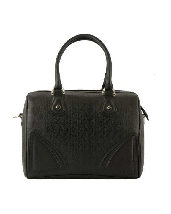 Aigner Women's Logo Embroidered Handbag - Black