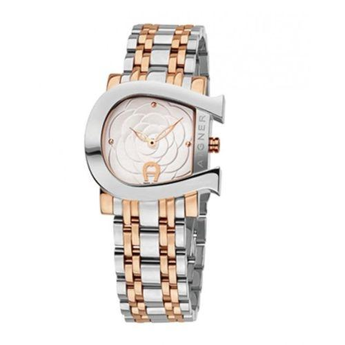 Aigner A31690 Genua Due Watch - White and Gold