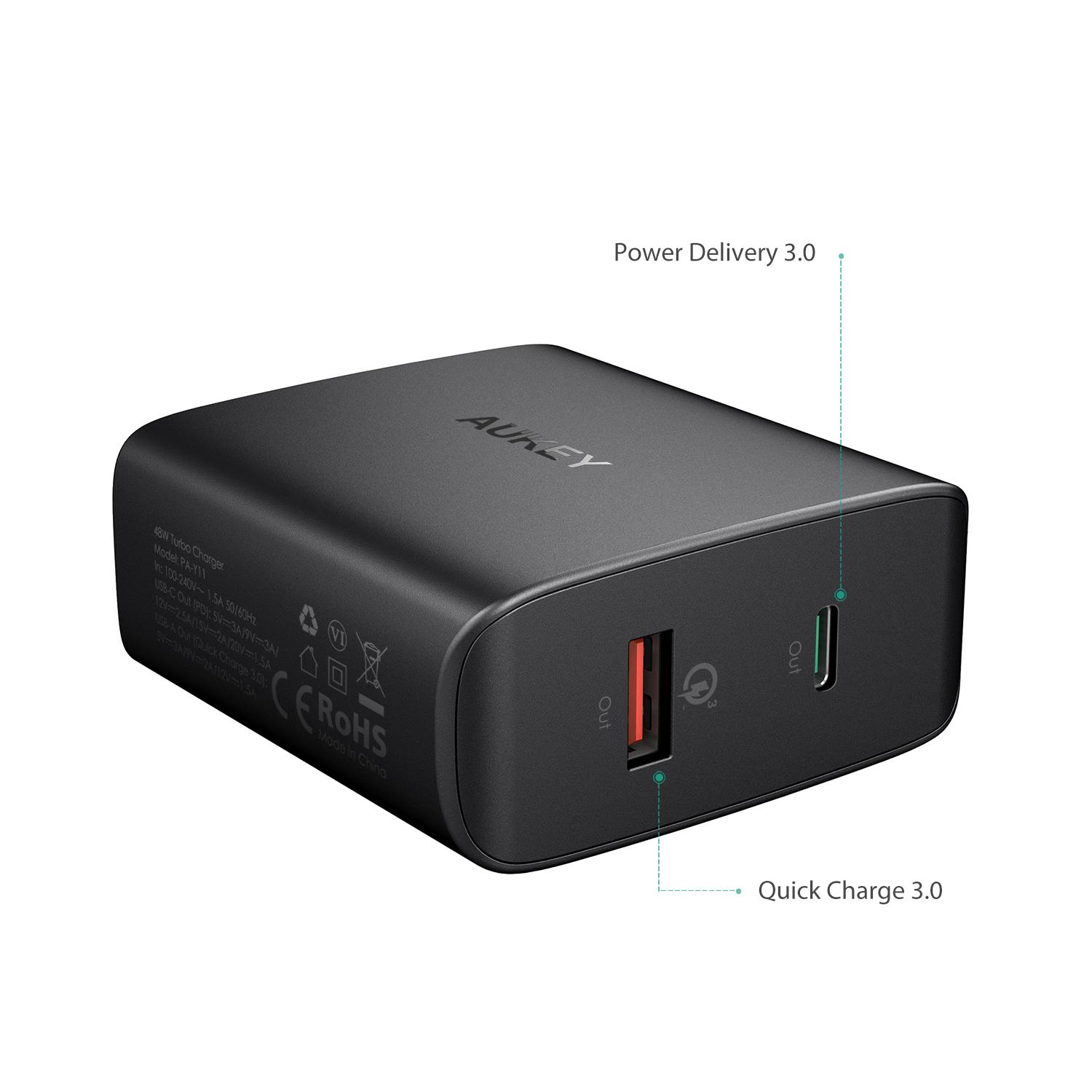 Aukeylux Buy At Best Price In Myanmar Travel Home Adaptor Charger Aukey Turbo Charge Pa T9 Quick Qualcomm 30 Original Y11 Amp Type C With Pd 48w Dual