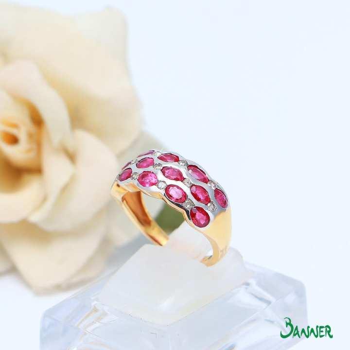 Yae-Hlaing Ruby and Diamond Ring