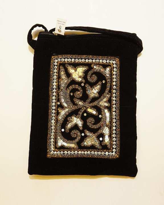 Three Seasons Myanmar Traditional Design Bag - Black
