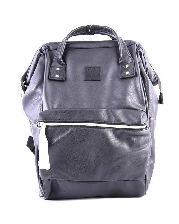 ANELLO Synthetic Leather Mouthpiece Backpack – Black