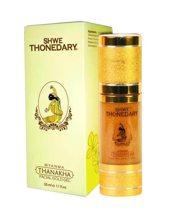Shwe Thonedary Thanakha Facial Gold Gel - 35 ml