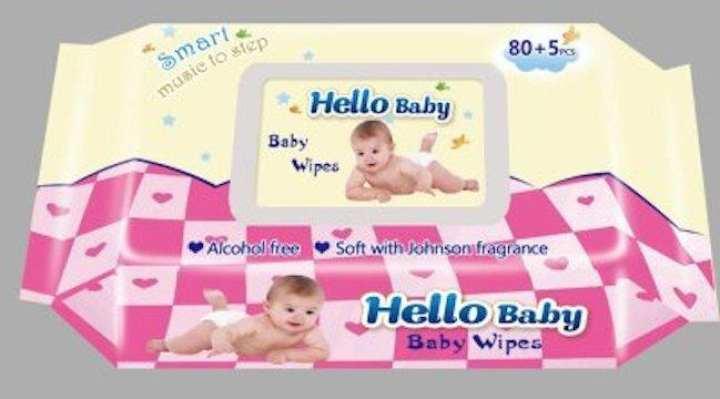 Hello Baby baby wipes 85's Johnson fragrance