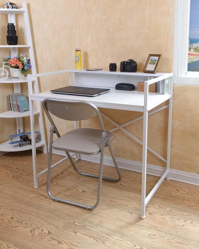 Minson Designer Furniture (DIY) ရံုးသံုး စားပြဲ ( Big) - အျဖဴေရာင္