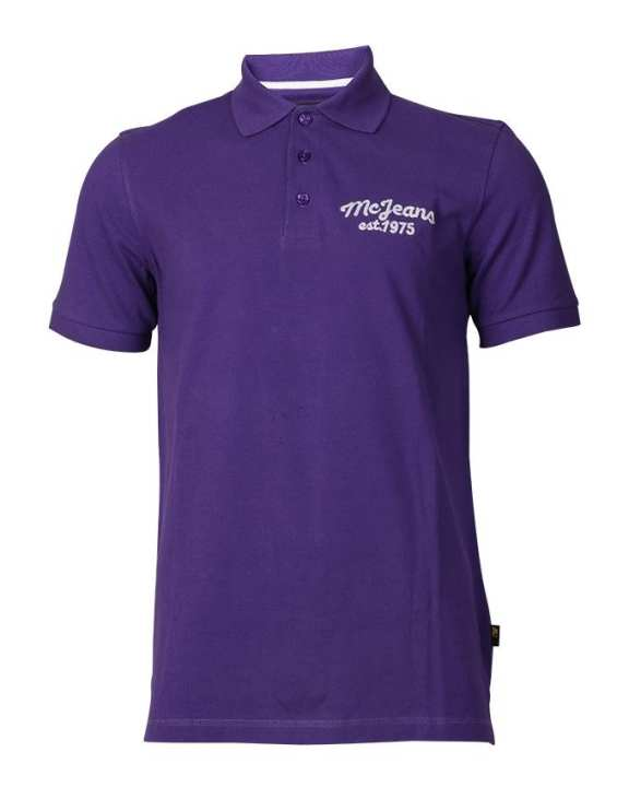 MC JEANS Men's Wear Sport Shirt -Puple