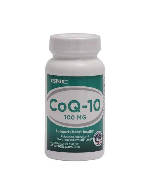 GNC Dietary Supplement CoQ-10 100mg - 30 Soft Gels