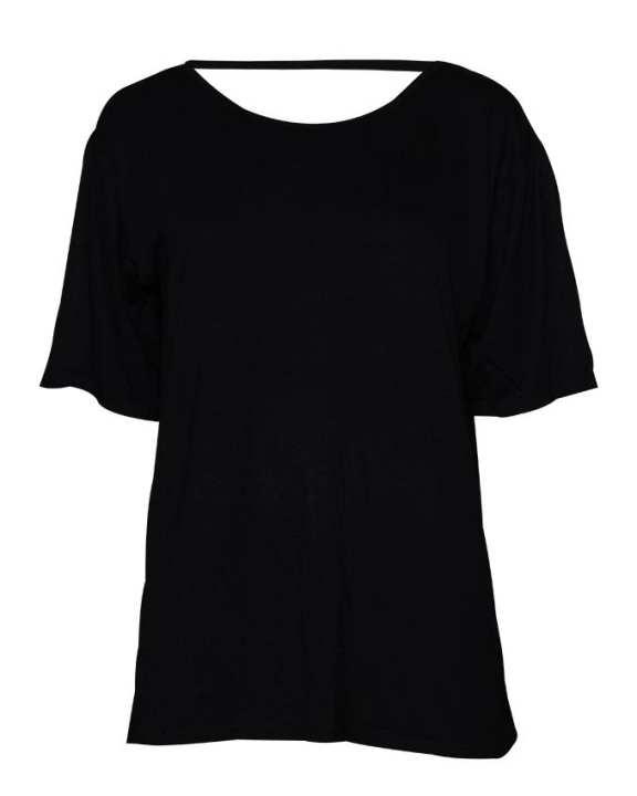 Happiness Plus Size Women's Wear Short Sleeve Blouse - Black