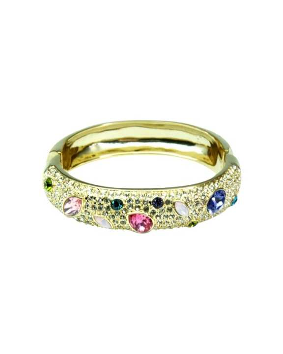 Paris Bijoux Multicolored Teardrops Crystal Bangle