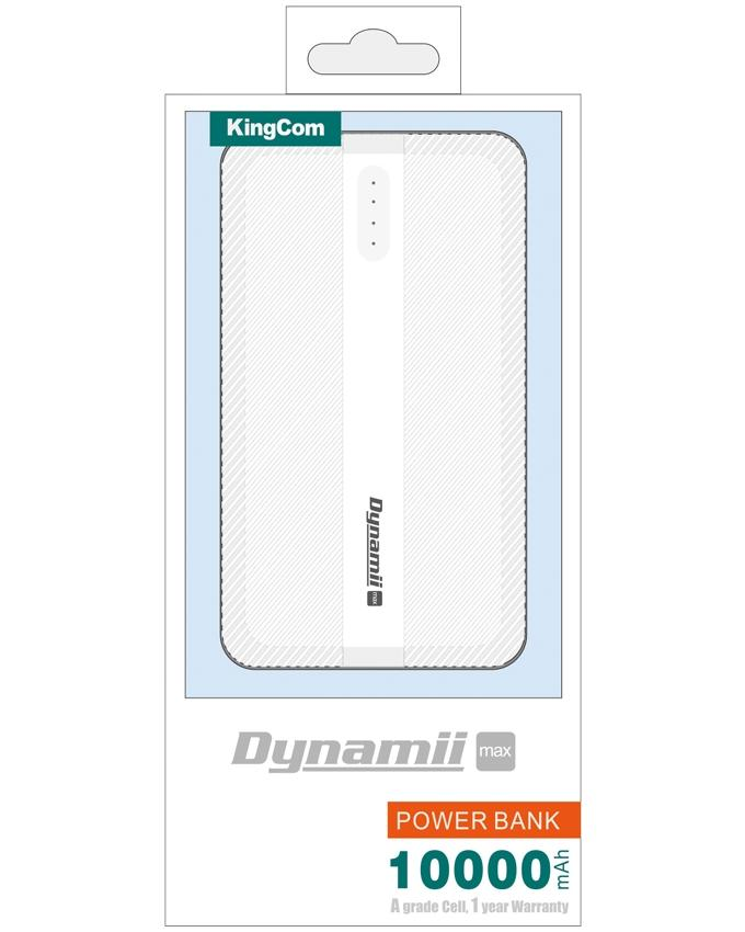 KingCom Dyanmii Max 10000mah Power Bank_White