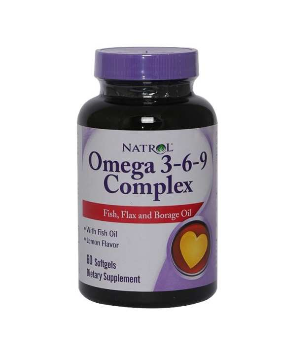 Natrol Omega 3-6-9 - 60'softgels