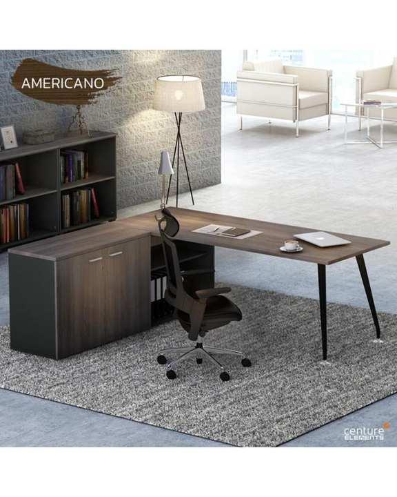 Centure 7C1R-1816 Executive Table - Americano Black