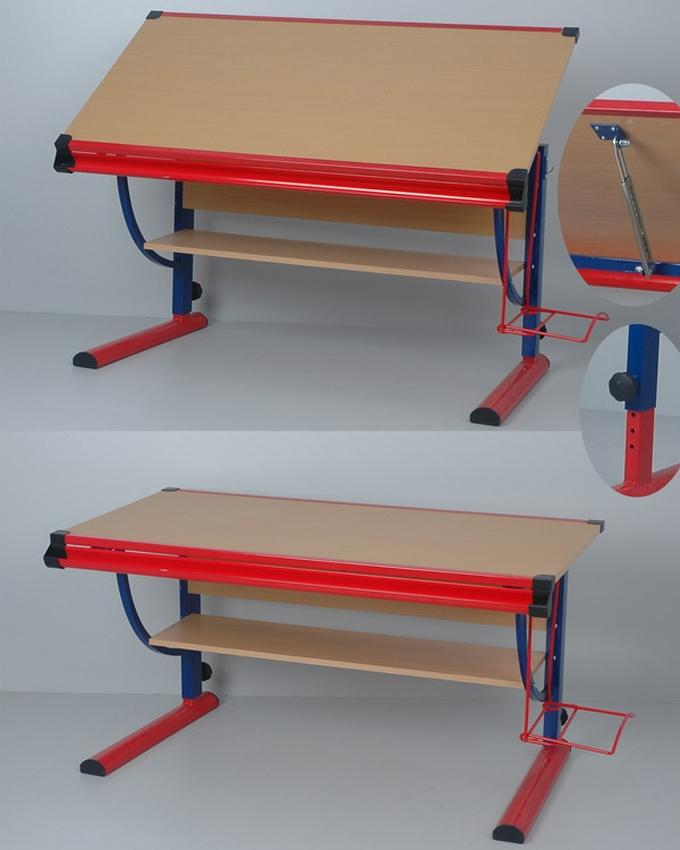 Minson Designer Furniture ( DIY) Drawing Table  - (Blue)