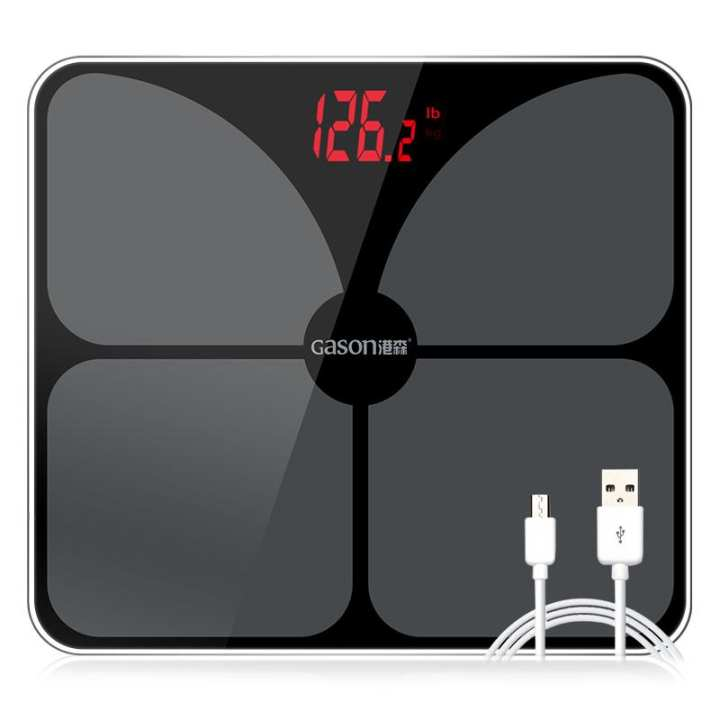 GASON A3s USB Charging Scales LED Digital Display Weight Weighing Floor Electronic Smart Balance