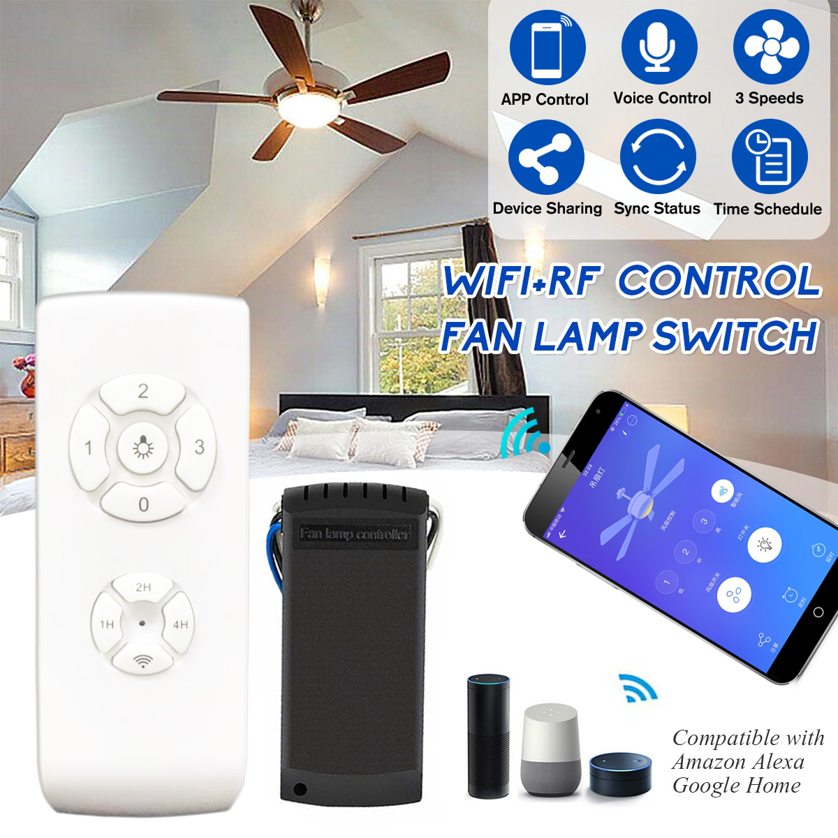 Tool Wifi Rf App Wireless Remote Control Ceiling Fan Ceiling Light Lamp Switch Timing Control Kit Buy Online At Best Prices In Myanmar Shop Com Mm