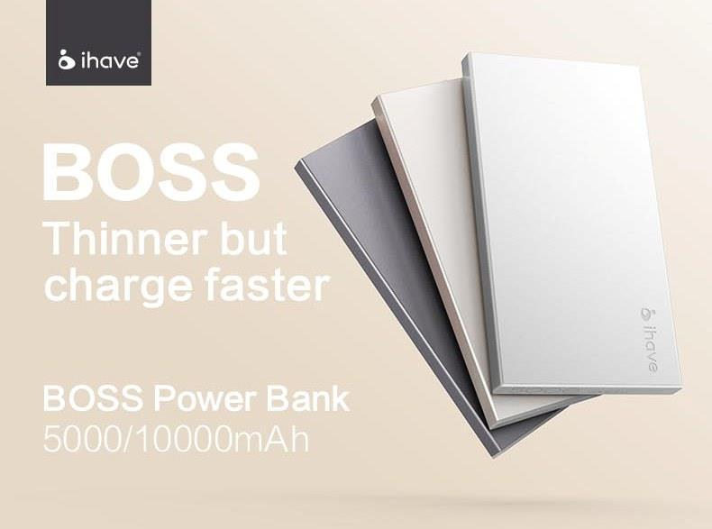 ROCK BOSS Power Bank (5000mAh)  - Grey
