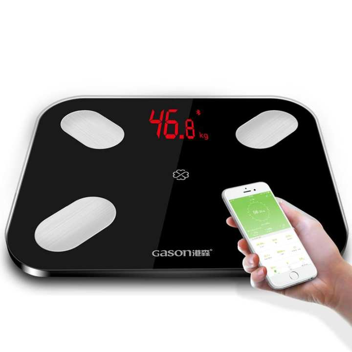 LED Body Bathroom Scales Floor Scientific Smart Electronic Digital Fat Weight Household Balance Bluetooth APP Android