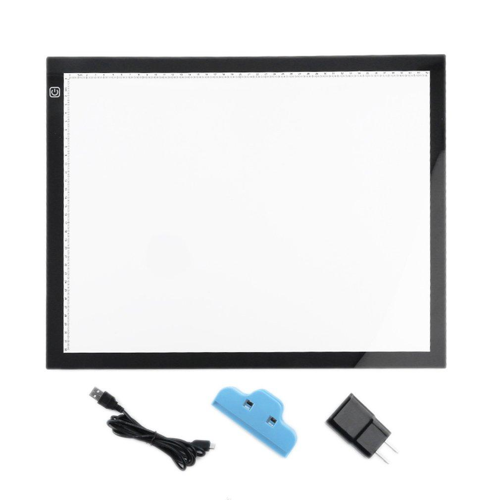A3 Portable LED Drawing Board Eyesight Protection Touch Dimmable Tracing  Table