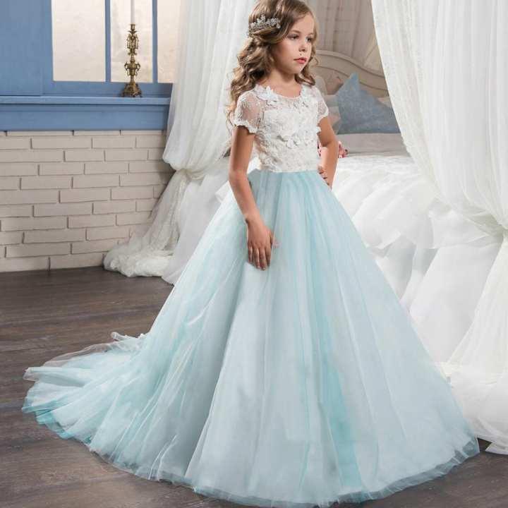 Rainbowroom Kid Floral Print Dress Children Girl Princess Costume Party Tutu Lace Dresse