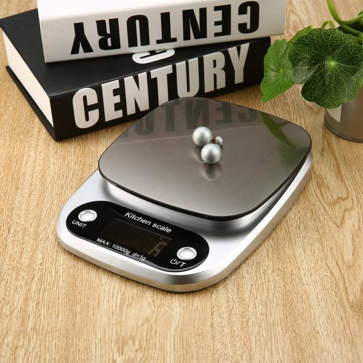 Digital Scale 10kg High Accuracy LCD Display Pocket Kitchen Use