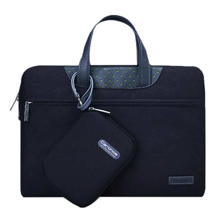 12 inch Cartinoe Business Series Exquisite Zipper Portable Handheld Laptop Bag with Independent Power Package for MacBook, Lenovo and other Laptops, Internal Size:28.0x17.0x3.0cm