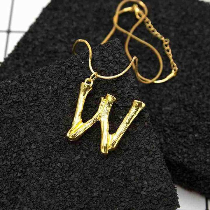 Fashion Women Gift 26 English Letter Name Chain Pendant Necklaces Jewelry