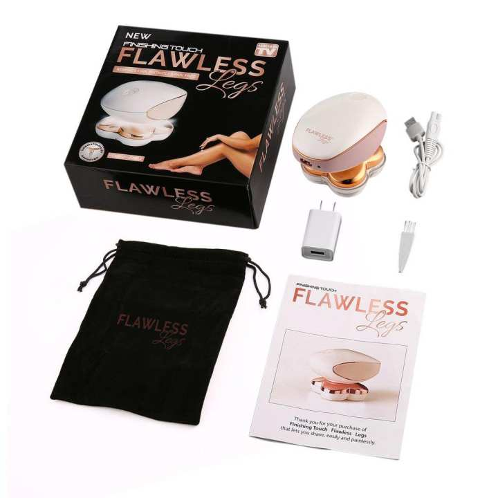 Four Heads Flawless Arm Legs Epilator Smooth Touch Women Female Hair Remover