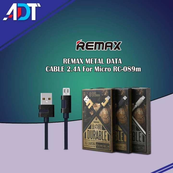 Remax METAL DATA CABLE 2.4A For Micro RC-089m (Charging Cable)