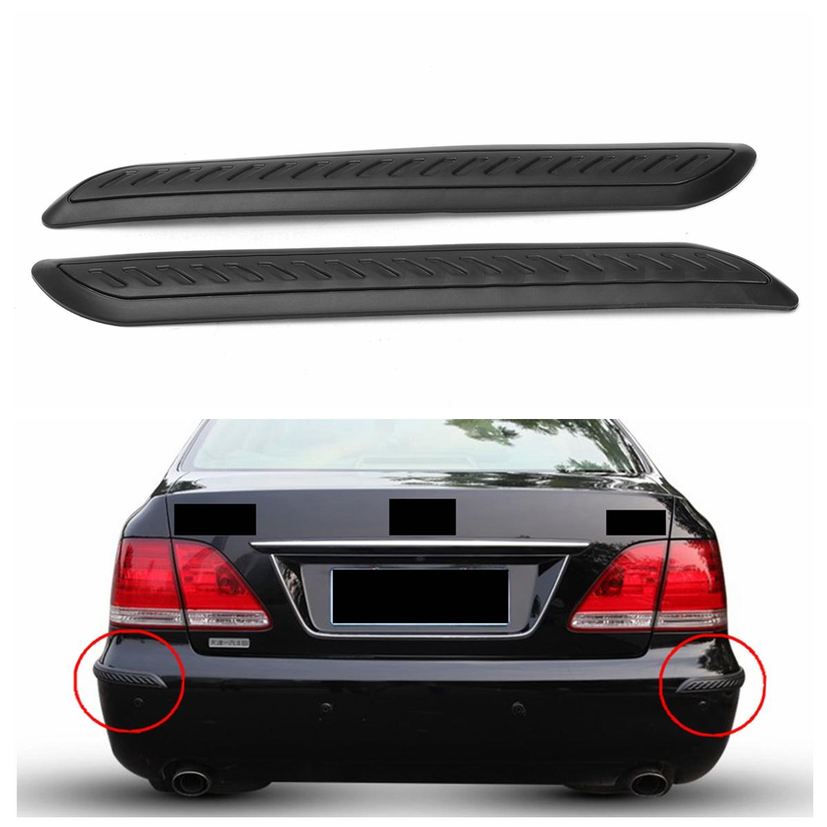 Car Bumper Corner Protector Accessories Door Guard Cover Lip Crash Bar Trim 2pc