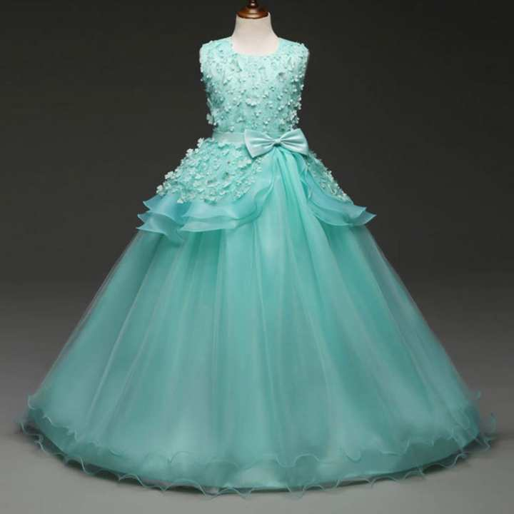 Rainbowroom Floral Baby Girl Princess Bridesmaid Pageant Gown Birthday Party Wedding Dress