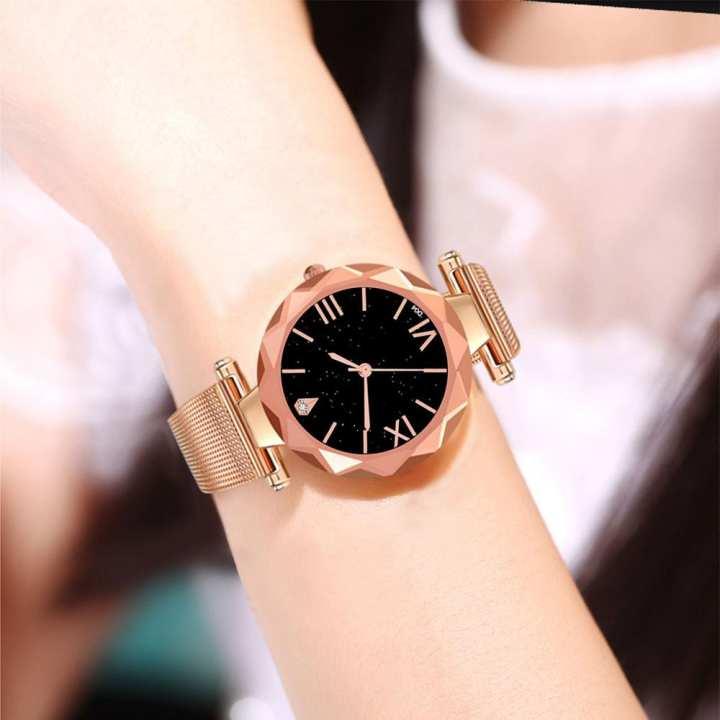 Ladies wristwatch Fashion Luxury Women Stainless Steel Quartz Wrist Watch Ladies