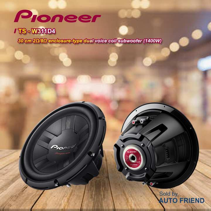 Pioneer TS-W311D4  Automobile Subwoofer